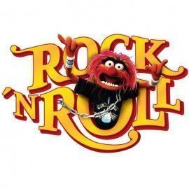 Sticker star wars marvel pixar disney ref. s-14010-h-muppets-tier-rocknroll