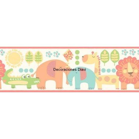 Cenefa papel pintado carousel ref c dlb50074 - Cenefas papel pintado ...