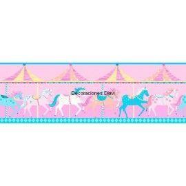 Cenefa Papel Pintado Carousel Ref. C-DLB50080