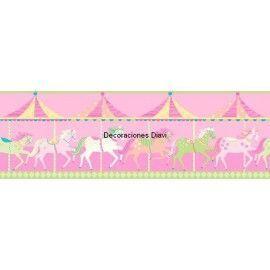 Cenefa Papel Pintado Carousel Ref. C-DLB50082